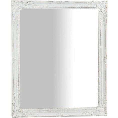 Espejo de colgar vertical,horizontal acabado con efecto blanco envejecido
