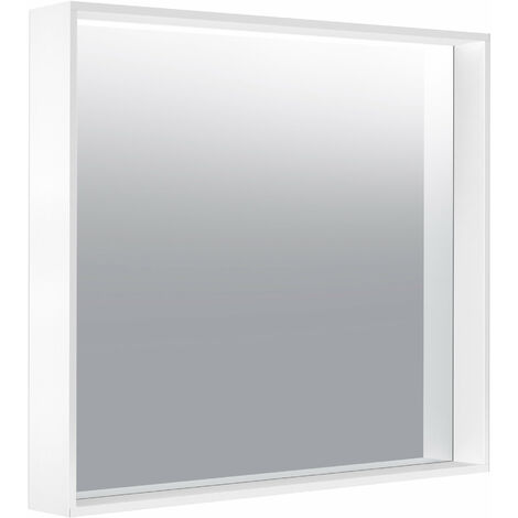 Espejo de cristal Keuco X-Line 33295, 800 x 700 x 105 mm, color: acero inoxidable - 33295292500