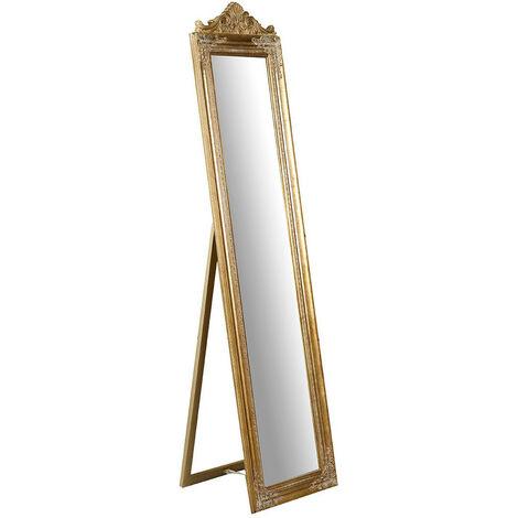 Espejo de la tierra y de pisocon efecto 43x3,5x178 cm cacabado con efecto oro envejecido