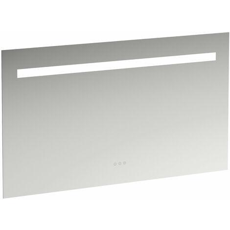 Espejo de Leelo con iluminación LED horizontal integrada, marco de aluminio, 1200 mm, versión con 3 interruptores de sensor táctil. - H4476739501441