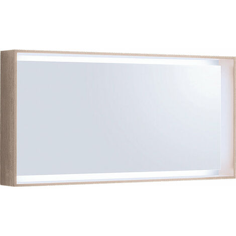 Espejo de luz Geberit Citterio 500570JI1, 118,4x58,4x14cm, estructura de madera roble beige - 500.570.JI.1