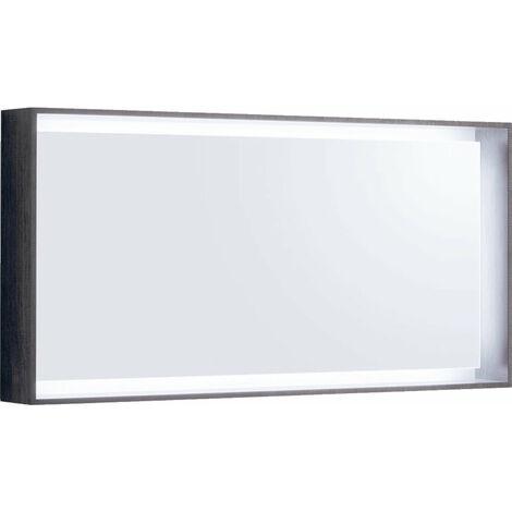 Espejo de luz Geberit Citterio 500570JJ1, 118,4x58,4x14cm, estructura de madera de roble marrón grisáceo - 500.570.JJ.1