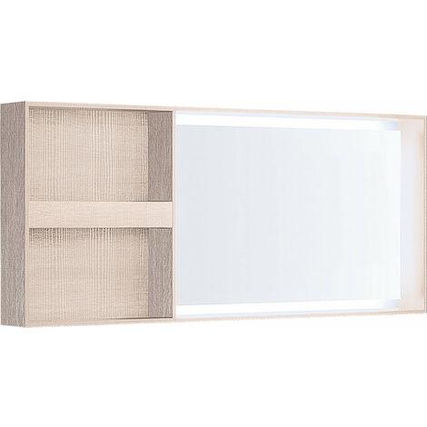 Espejo de luz Geberit Citterio 500571JI1, con estante, 133,4x58,4x14cm, estructura de madera roble beige - 500.571.JI.1
