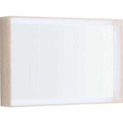 Espejo de luz Geberit Citterio 500572JI1, 88,4x58,4x14cm, estructura de madera roble beige - 500.572.JI.1