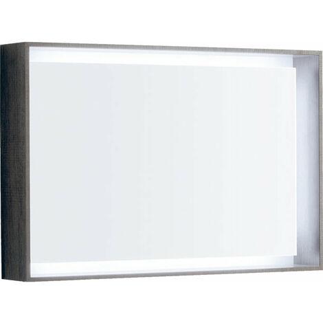 Espejo de luz Geberit Citterio 500572JJ1, 88,4x58,4x14cm, estructura de madera de roble marrón grisáceo - 500.572.JJ.1