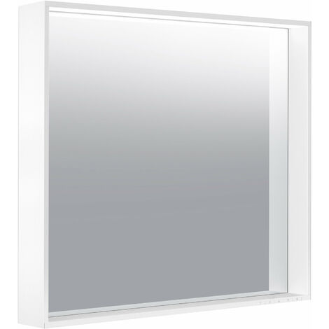 Espejo de luz Keuco X-Line 33297, color de luz 2700-6500 Kelvin, 800 x 700 x 105 mm, color: cachemir - 33297182500