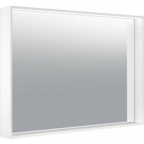 Espejo de luz Keuco X-Line 33298, calefacción de espejo, color de luz 2700-6500 Kelvin, 1000 x 700 x 105 mm, color: trufas - 33298143000