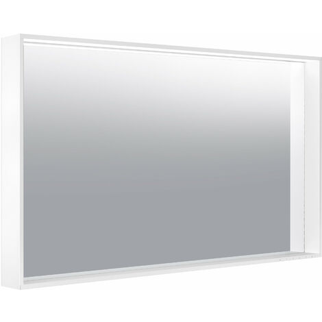 Espejo de luz Keuco X-Line 33298, calefacción de espejo, color de luz 2700-6500 Kelvin, 1200 x 700 x 105 mm, color: cachemir - 33298183500