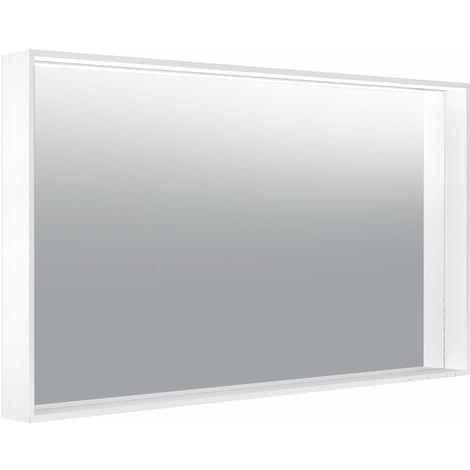 Espejo de luz Keuco X-Line 33298, calefacción de espejo, color de luz 2700-6500 Kelvin, 1200 x 700 x 105 mm, color: trufas - 33298143500
