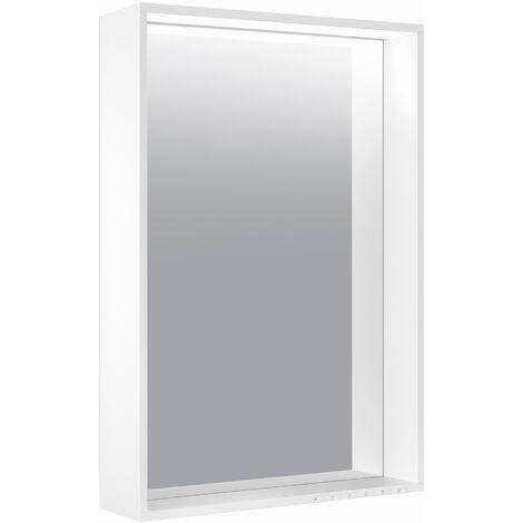 Espejo de luz Keuco X-Line 33298, calefacción de espejo, color de luz 2700-6500 Kelvin, 500 x 700 x 105 mm, color: acero inoxidable - 33298291500