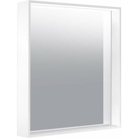 Espejo de luz Keuco X-Line 33298, calefacción de espejo, color de luz 2700-6500 Kelvin, 650 x 700 x 105 mm, color: acero inoxidable - 33298292000