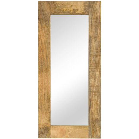 Espejo de madera maciza de mango 50x110 cm