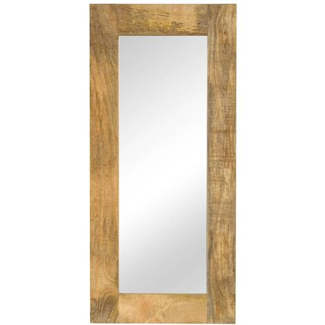 Espejo de madera maciza de mango 50x110 cm - Marrón