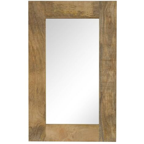 Espejo de madera maciza de mango 50x80 cm