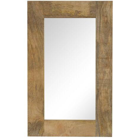 Espejo de madera maciza de mango 50x80 cm - Marrón