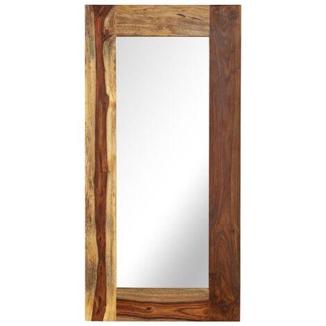 Espejo de madera maciza de Sheesham 50x110 cm