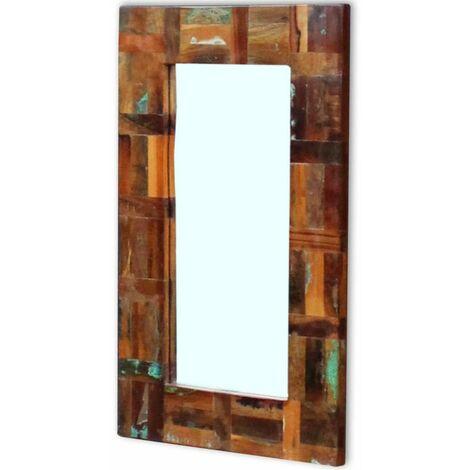 Espejo de madera maciza reciclada 80x50 cm
