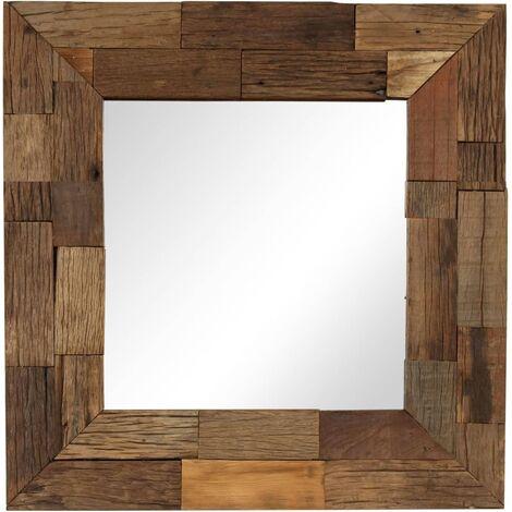 Espejo de madera reciclada maciza 50x50 cm