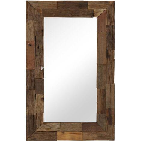 Espejo de madera reciclada maciza 50x80 cm