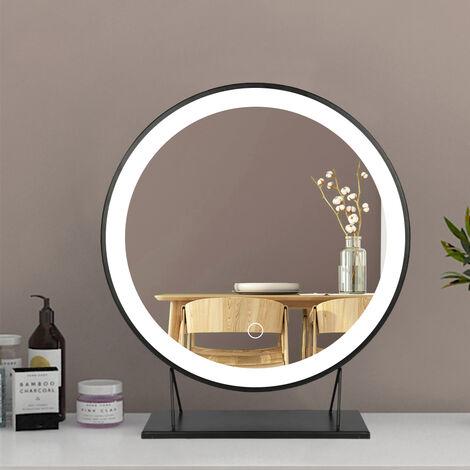 Espejo de maquillaje Espejo cosmética con iluminación LED Iluminación de tocador para camerino,dormitorio, maquillaje
