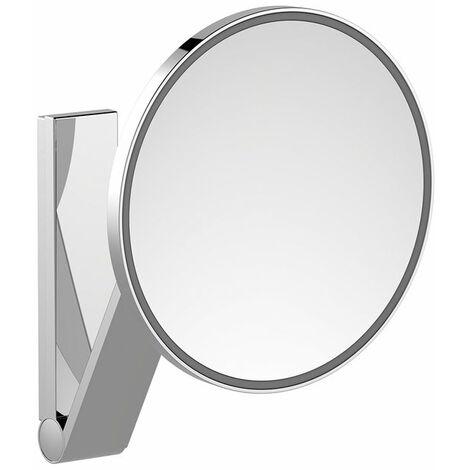 Espejo de maquillaje Keuco iLook_move, 17612, iluminado, 1 color de luz, con 212mm, cromado - 17612019003