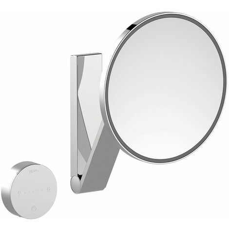 Espejo de maquillaje Keuco iLook_move, 17612, iluminado, color de luz regulable en 5 niveles, con 212 mm, cromado - 17612019002