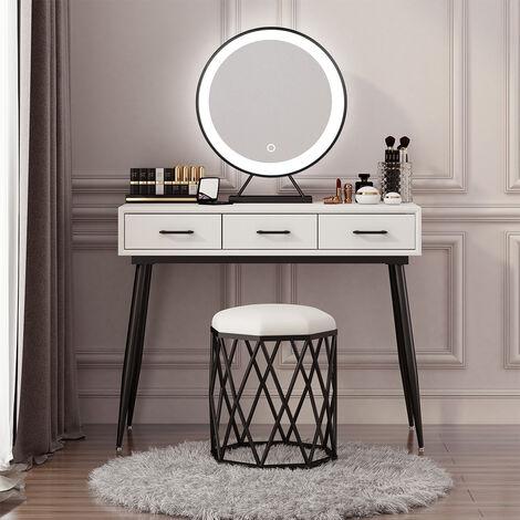 Espejo de maquillaje LED Espejo Decorativo con LED Iluminación de tocador para camerino,dormitorio, maquillaje 40cm(Luz blanca)