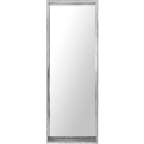 Espejo de pared 50x140 cm plateado OIRON