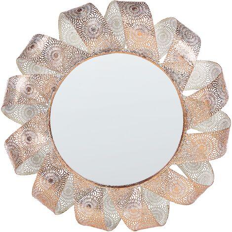Espejo de pared ø60 cm blanco/cobre MANGALORE