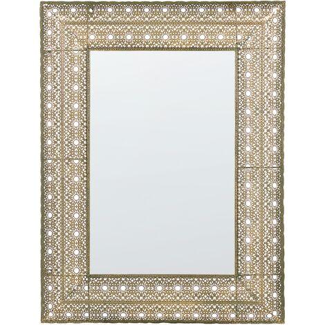 Espejo de pared 60x90 cm dorado DEHRADUN