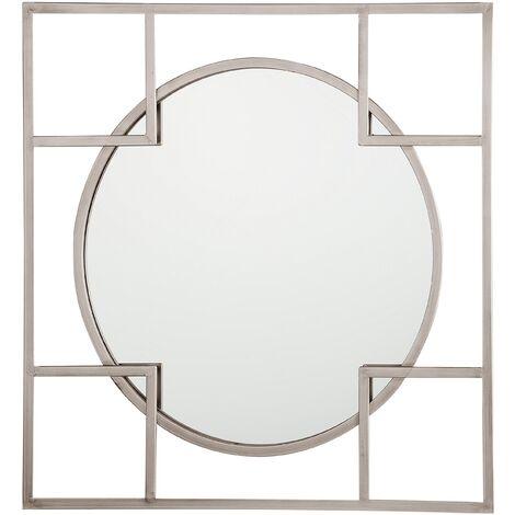 Espejo de pared 71x71 cm plateado APOLIMA