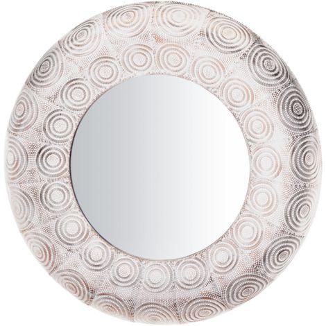 Espejo de pared ø75 cm blanco/cobre KOLLAM