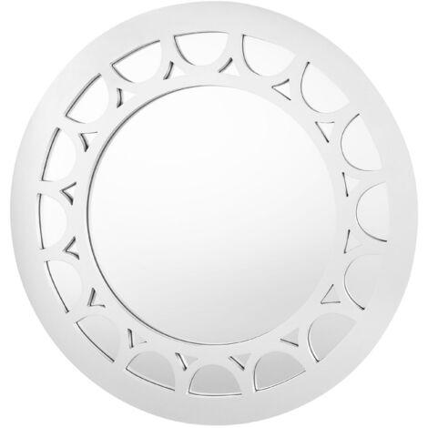 Espejo de pared ø80 cm plateado LOLIF