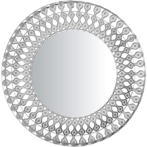 Espejo de pared ø80 cm plateado OREDON