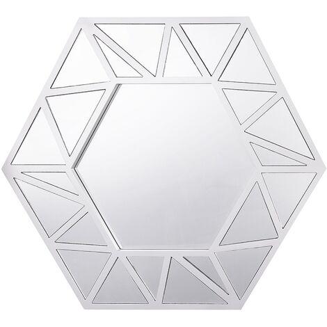 Espejo de pared 80x70 cm plateado ISIGNY
