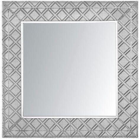 Espejo de pared 80x80 cm plateado EVETTES