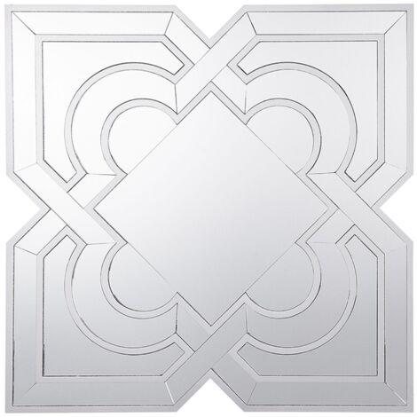 Espejo de pared 80x80 cm plateado HONFLEUR