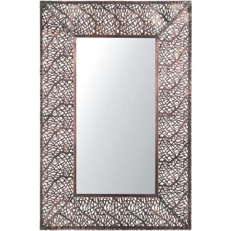 Espejo de pared 90x60 cm latón BRIENNE
