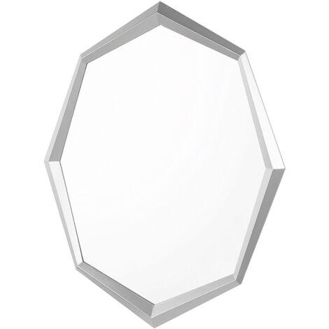 Espejo de pared 91x66 cm plateado OENO