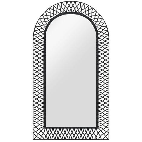 Espejo de pared arqueado 60x110 cm negro