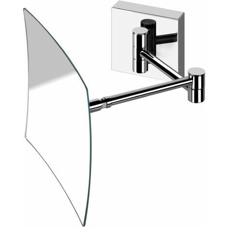 Espejo de pared con 2 aumentos y extensible Pollini Acqua Design 31A   Cromo