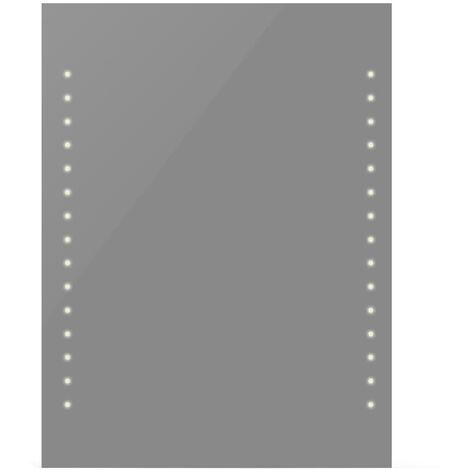 Espejo de pared con luces LED 60x80 cm