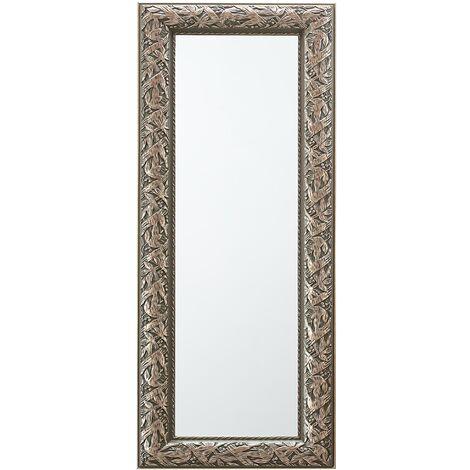 Espejo de pared con marco color plata antigua, 51x141 cm, BELLAC