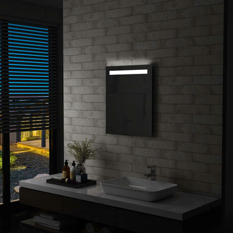 Espejo de pared de baño con LED 50x60 cm