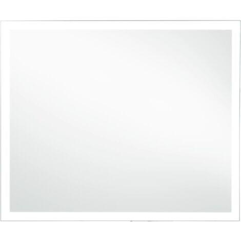 Espejo de pared de baño con LED 60x50 cm