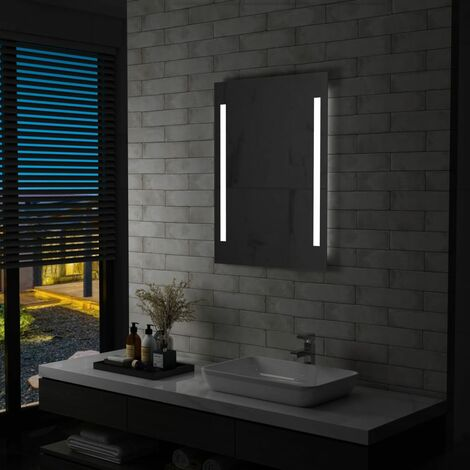 Espejo de pared de baño con LED 60x80 cm