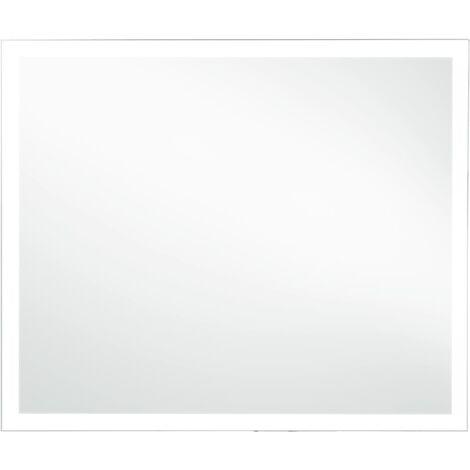 Espejo de pared de baño con LED 80x60 cm
