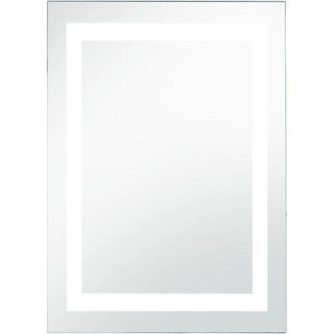 Espejo de pared de baño con LED y sensor táctil 60x100 cm