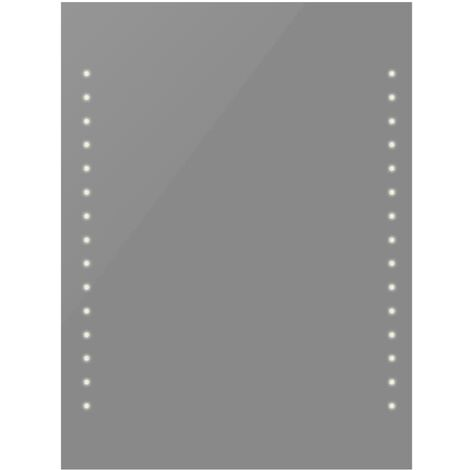 Espejo de pared de baño con luces LED 50x60 cm
