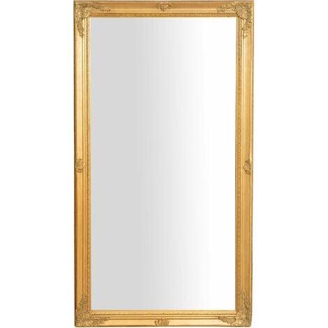 Espejo de pared de colgar de colgar vertical/horizontal 72x3x132 cm con efecto oro envejecido